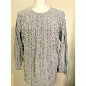 J Jill Chenille Sweater Cable Knit Pullover